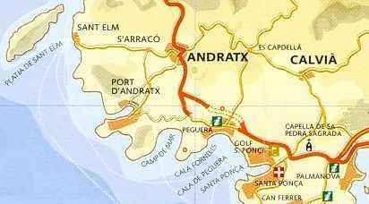 Mallorca Karte Paguera.Peguera